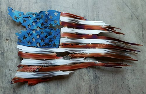 Battle Worn American Flag - Torched (24 inches wide)