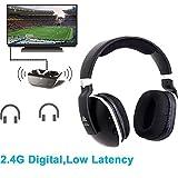 Digital Wireless Over-Ear Headphones for TV,Artiste 2.4GHz UHF/RF for TV Listening,Rechargeable 20 Hour