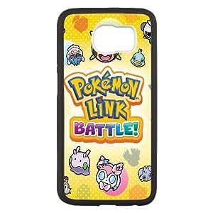 Pokemon Batalla Trozei Puzzle Nueva Continuación marzo 2014 Genius Sonority Caso 93.125 Samsung Galaxy S6 teléfono celular funda Negro caja del teléfono celular Funda Cubierta EEECBCAAL74852