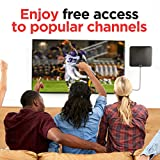 PowerBear TV Antenna (80 Mile Range) 4K TV Antenna (Full HDTV Support – 4k, 1080P, 1080i, 720P) TV Antenna Indoors Signal Booster – Free TV Channels, 16FT Coaxial Cable