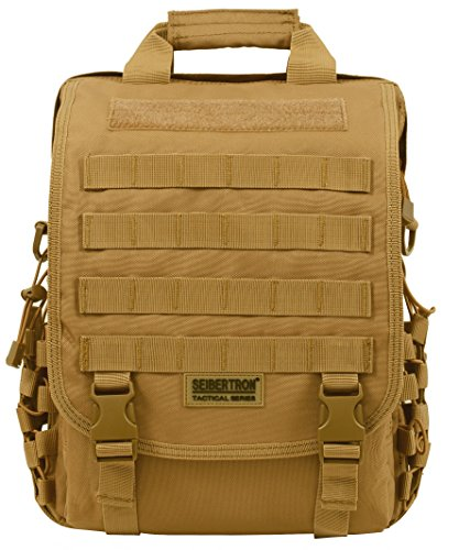 "Seibertron waterproof Molle Tactical 15.6""inch Laptop Sling"