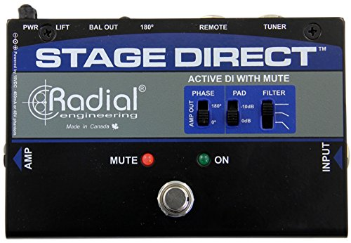 Radial Engineering StageDirect Active DI Box w/ Footswitch Mute and Tuner Out by Radial Engineering