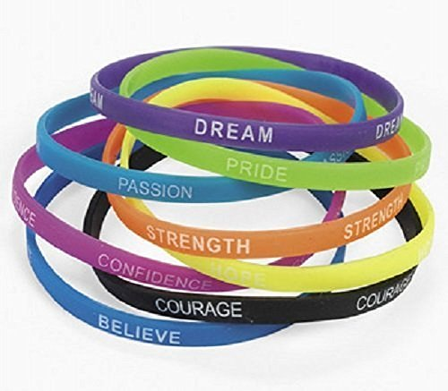 Thin Inspirational Sayings Bracelets Kids