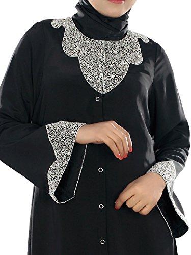Kleidung Burqa Hifja islamische bestickt MyBatua Hand vx5BZnqw