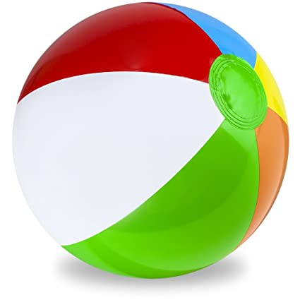 Amazon.com: Sol Coastal Jumbo clásico arco iris pelota ...
