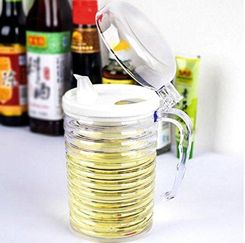 FJXLZ® Aceite transparente Puede salsa de soja Botella Botellas de vinagre Botella sellada Botella de especias Botella de almacenamiento a prueba de polvo ...