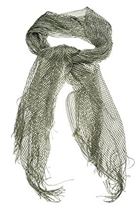 Collection Eighteen Women's Solid Lurex Fringe Scarf (OS, Ancient Stone)