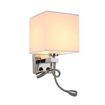 Cancui Lampe Étoffe Moderne Avec Métal Applique E27 Led Murale, 2 QrdhtCs