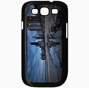 Unique Design Fashion Protective Back Cover For Samsung Galaxy S3 Case Chicago Chicago America USA Building Skyscrapers Black