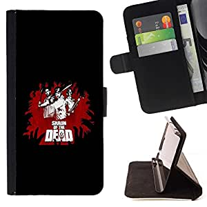 DEVIL CASE - FOR HTC One M7 - cool funny movie of dead fight black red - Style PU Leather Case Wallet Flip Stand Flap Closure Cover