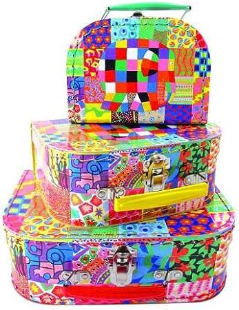Petit Jour Paris Elmar Elmer - Caja de cartón rígido (tamaño pequeño), diseño de Elefante: Amazon.es: Juguetes y juegos