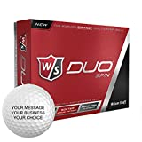 Wilson Staff Duo Spin Personalized Golf Balls - Add Your Own Text (12 Dozen)