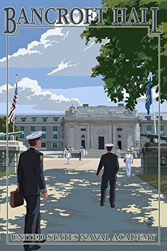 Bancroft Hall - United States Naval Academy - Annapolis, Maryland (9x12 Art Print, Wall Decor Travel Poster)