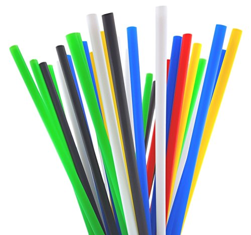 (10 Inch Drinking Straws (250 Straws) (10 Inch x 0.28 Inch) (Assorted Colors))
