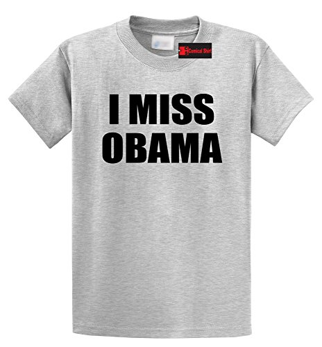 Obama Ash Grey T-shirt - Comical Shirt Men's I Miss Obama Ash Grey S