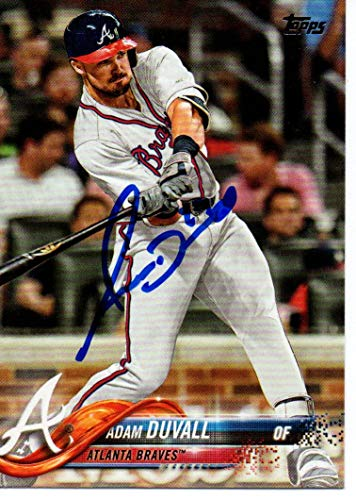 Adam Duvall Atlanta Braves 2018 Topps Update Autographed Signed Card