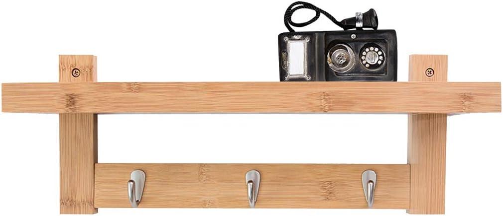 RUIXFLR - Estante de pared multifuncional de madera para ...