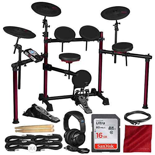 Ddrum DD BETA PRO Electronic Drum Set with 16GB Card and Accessory Bundle