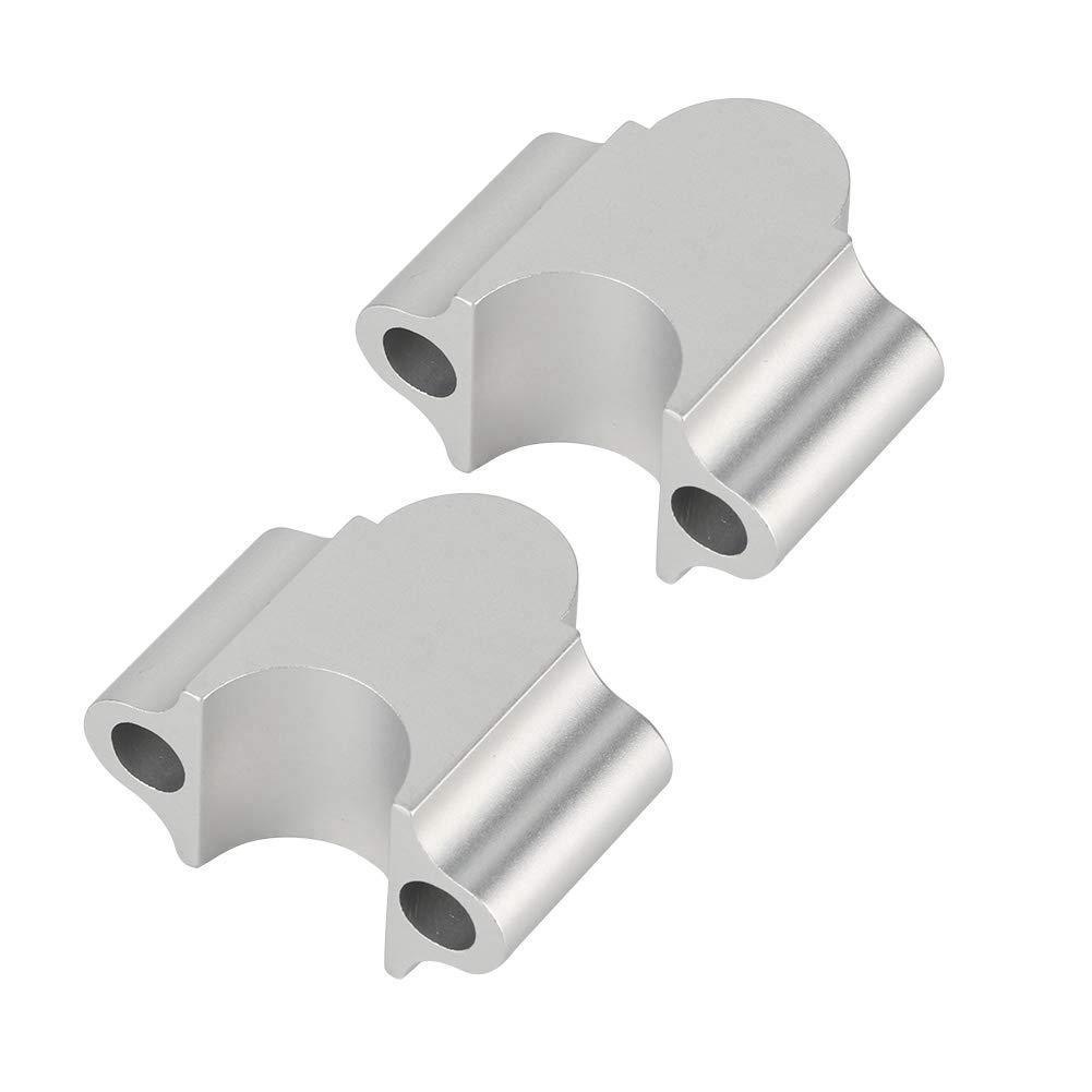 Nero Riser per manubrio rialzato Riser per manubrio per motocicletta Riser universale per manubrio in lega di alluminio 7//8  22mm Morsetto per rialzo per manubrio per moto