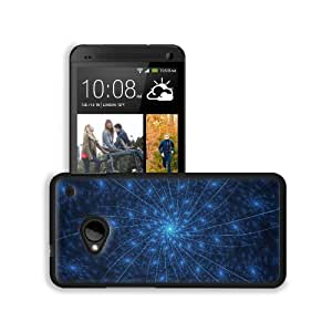 Abstract Blue Lines Vortex Pattern HTC One M7 Snap Cover Premium Leather Design Back Plate Case Customized Made to Order Support Ready 5 11/16 inch (145mm) x 2 15/16 inch (75mm) x 9/16 inch (14mm) MSD HTC One Professional Leather Plastic Cases Touch Acces wangjiang maoyi