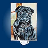 Best Ruth Maysteads - Pug Black Dog Night Light (Nightlight) - Best Review