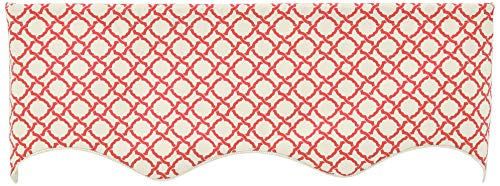 Ellis Curtain Kent Crossing 50-by-15 Inch Lined Duchess Filler Valance, Clay