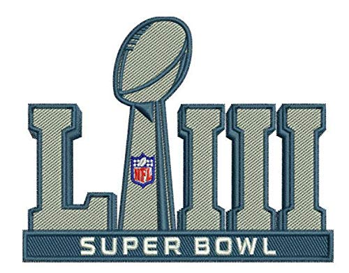 Super White Bowl Jersey - Football 2019 Super Bowl 53 LIII Patch with Color NFL Shield Limited Edition Superbowl LIII RAMS VS. Patriots