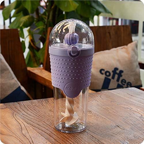 Botella de agua creativa con tapa especial con pajita en espiral ...