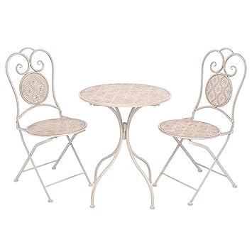 Tidyard Ensemble de Salon de Jardin Style Vintage en Acier avec 2 ...