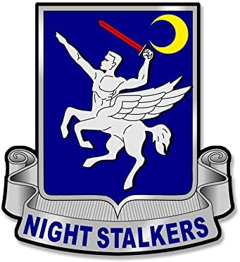 American Vinyl 160th SOAR Night Stalkers Seal Shaped Sticker (Special ops Aviation Regiment)