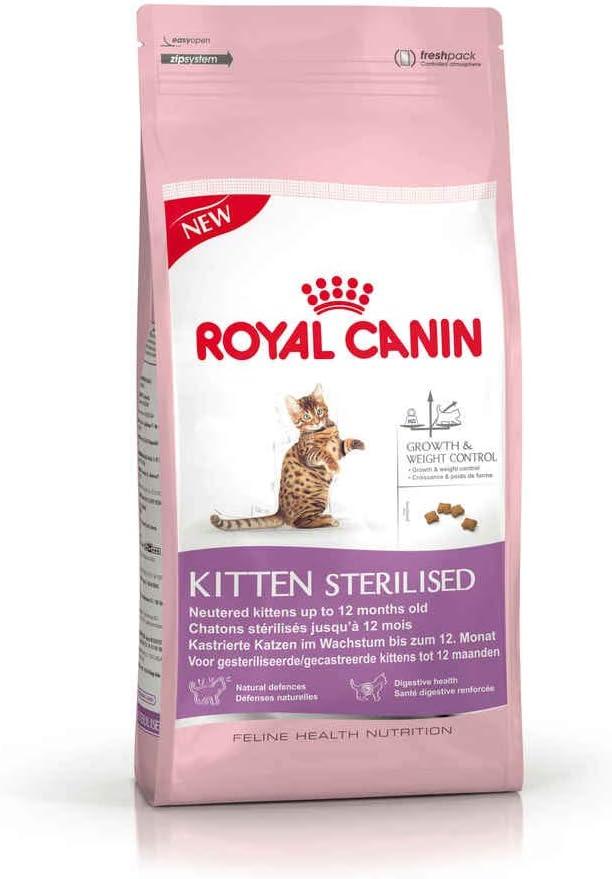Royal Canin Comida para gatos Kitten Sterilised 4 Kg: Amazon.es ...