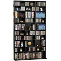 Oskar Media Tower 1080 CD - 504 DVD / BluRay / Games Wood Cabinet (Espresso) (71.25H x 9.13W x 40D)