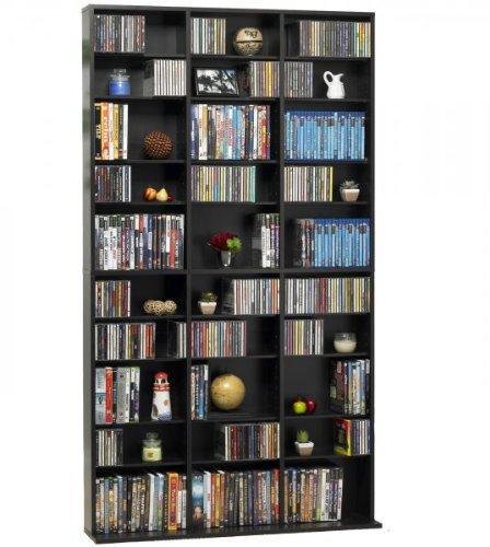 Atlantic Oskar Wood Cabinet - Oskar Media Tower 1080 CD - 504 DVD / BluRay / Games Wood Cabinet (Espresso) (71.25