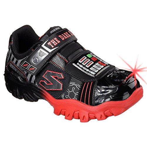 """Skechers Star Wars Boys '""""Dark Side la fuerza"""" luminoso Zapatillas multicolor - negro/ rojo"""