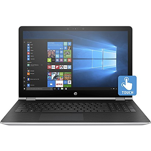HP Pavilion x360 15-inch Convertible Laptop, Intel Core i5-7200U, 8GB RAM, 1TB hard drive, Windows 10 (15-br010nr, Silver)