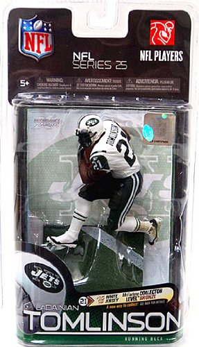 McFarlane Toys NFL Sports Picks Series 25 Action Figure LaDainian Tomlinson (New York Jets)White Jersey Variant