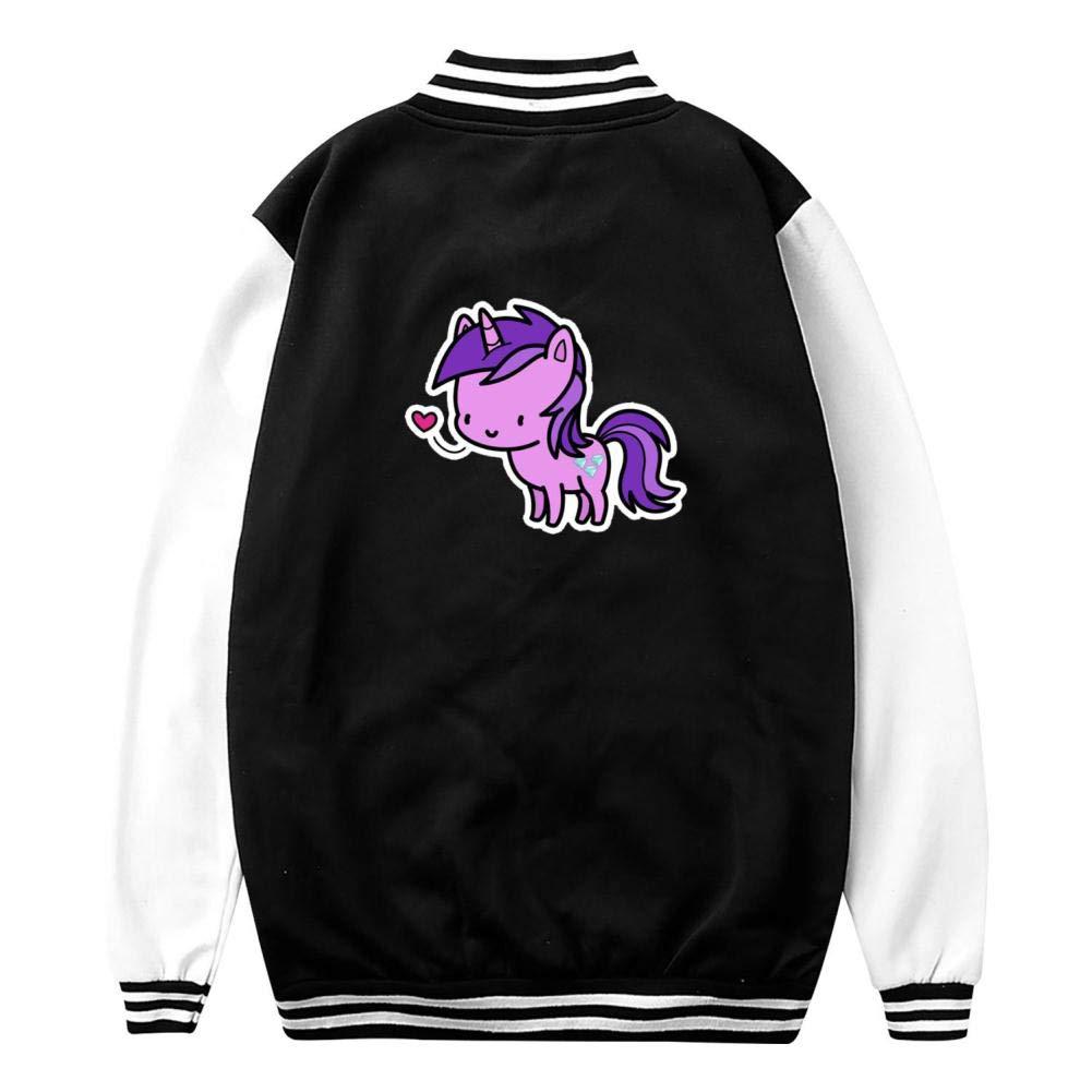 Youth//Kids Amethyst Star Letterman Jacket Varsity Baseball Bomber Cotton Jacket