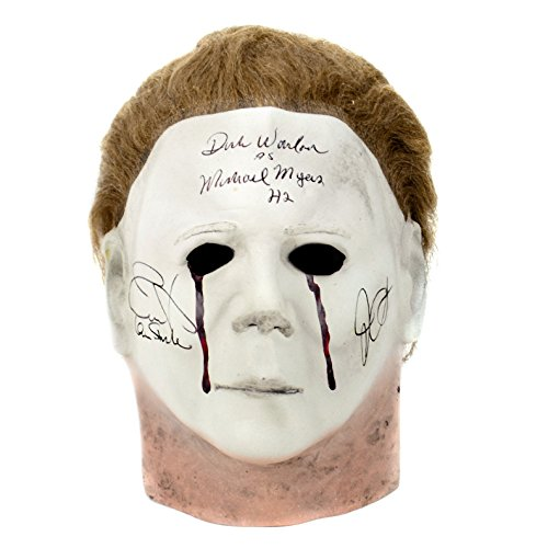 Jamie Lee Curtis, John Carpenter and Dick Warlock Autographed Halloween II Michael Myers Mask - Movie Memorabilia Props