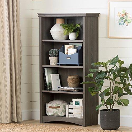 South Shore 4-Shelf Storage Bookcase, Gray Maple