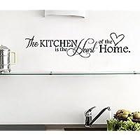 Adesivi Murali Frasi The Kitchen Is The Heart Of The Home Stickers Muri Fai Da Te per Cucina Decorazione Parete