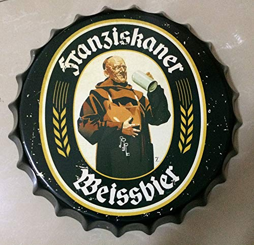 NEWNESS WORLD Figure Series,Pattern 1 Retro Bottle Cap Metal Tin Signs Beer Cap Decoration Plates Wall Art Plaque Decoration Home Decoration/Bar/Cafe Bar(35cm by 35cm)