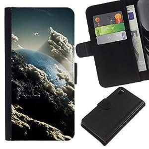 """Be-Star la tarjeta de CršŠdito Slots PU Funda de cuero Monedero caso cubierta de piel Para Sony Xperia Z3 D6603 ( Nubes Cielo Arte Tierra Sun Ambiente"""" )"""
