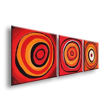 Quadri E Tele Moderne.Hipnotic 588 75x38cm 3 Quadri Tele Moderne Arredamento Per La