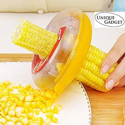 Unique Gadget Plastic Corn Cutter, Small, Yellow