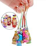 1 Set of 12pcs Fashion Jewelry Drip Charm Key Chains Wood Matryoshka Russian Dolls Key Rings Keychains Decorative Gifts