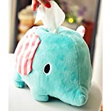 Wukong Cartoon Animal Elephant Plush Napkin Tissue Box Holder