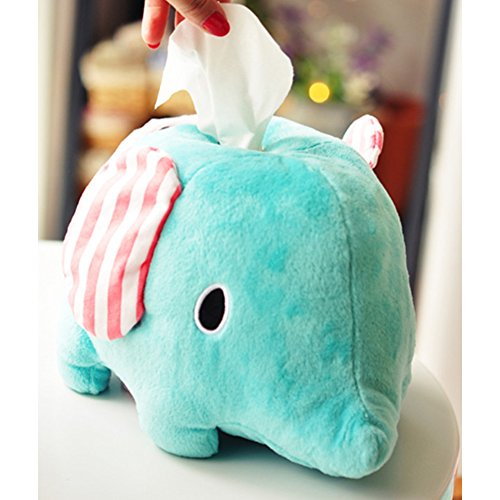 Wukong Cartoon Animal Elephant Plush Napkin Tissue Box Holder by Wukong