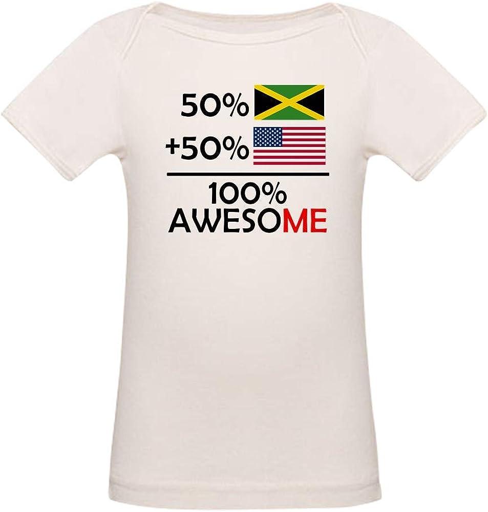 CafePress Half Jamaican Half American T Shirt Organic Baby T