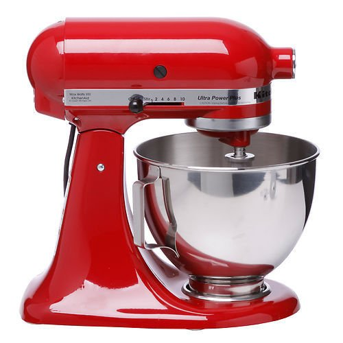 KitchenAid KSM100PSER/KSM100PSER0 Empire Red UltraPower Plus Stand Mixer