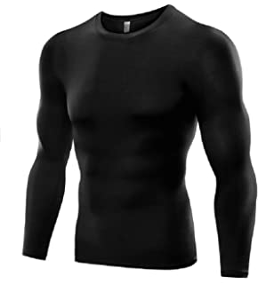 edf6582642be6c Men s Sports Base Layer Long Sleeved Compression Vest Comfortable Tight Fit  Body Shaper That Compresses Core